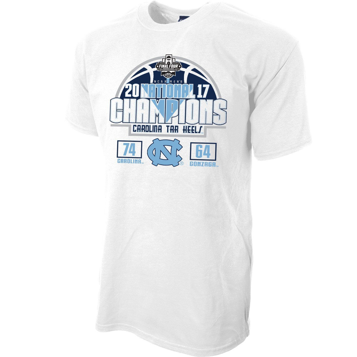 870ae1a8f77057 What is a better way to show your pride for UNC winning the NCAA 2017  Championships than to wear the final score! Get this awesome design in Carolina  blue ...