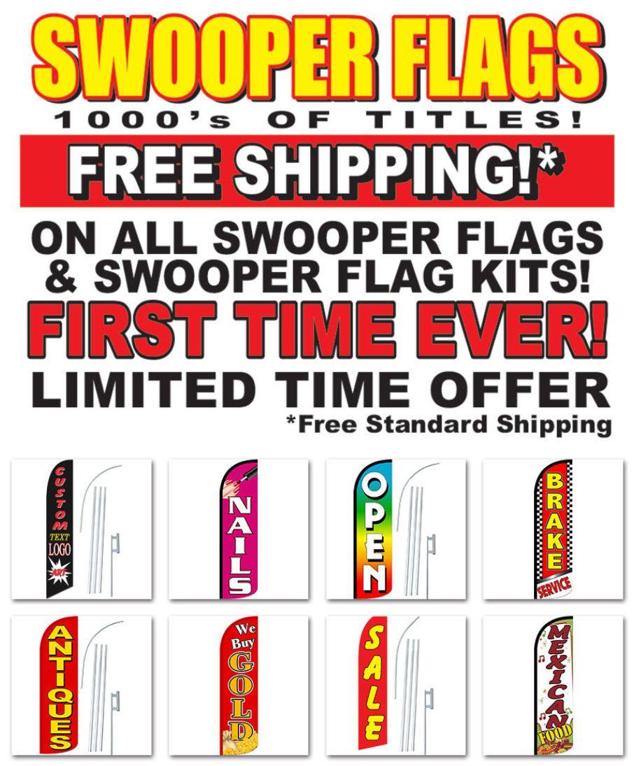 Dodge Black White Windless Banner Advertising Marketing Flag