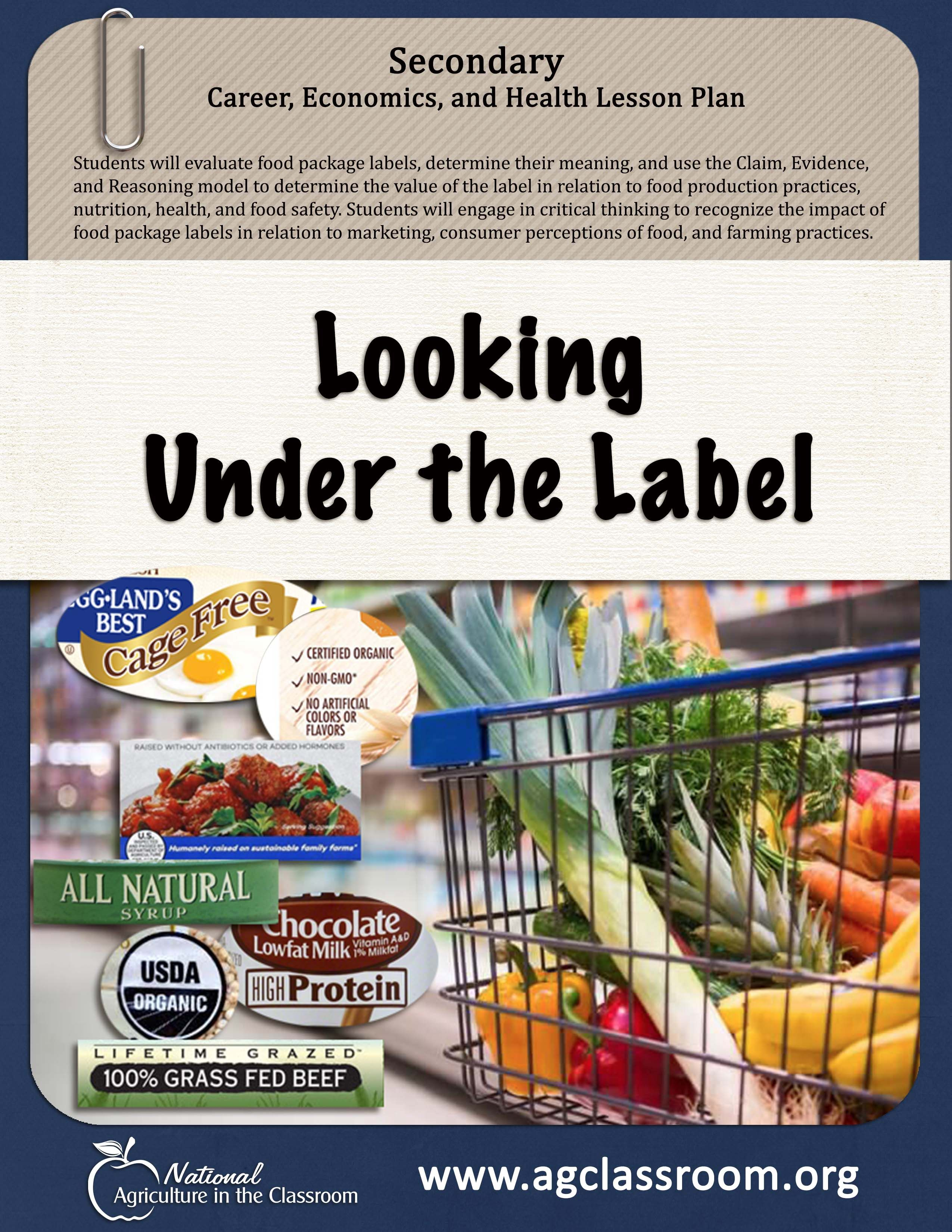 Food Label Lesson Plans