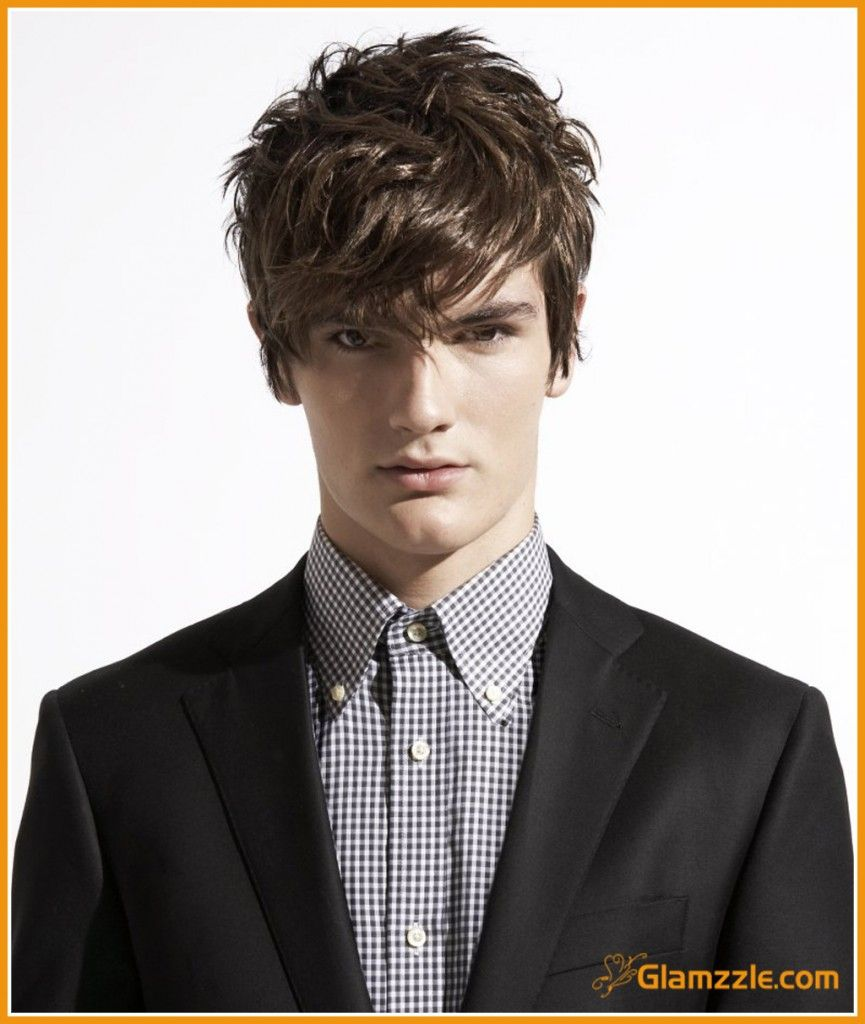 Messy hot hairstyles for guys teenage boys with medium