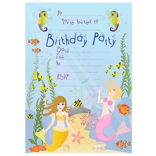 Mermaid Invitations Free Downloadable Pdf Great For Mermaid Party
