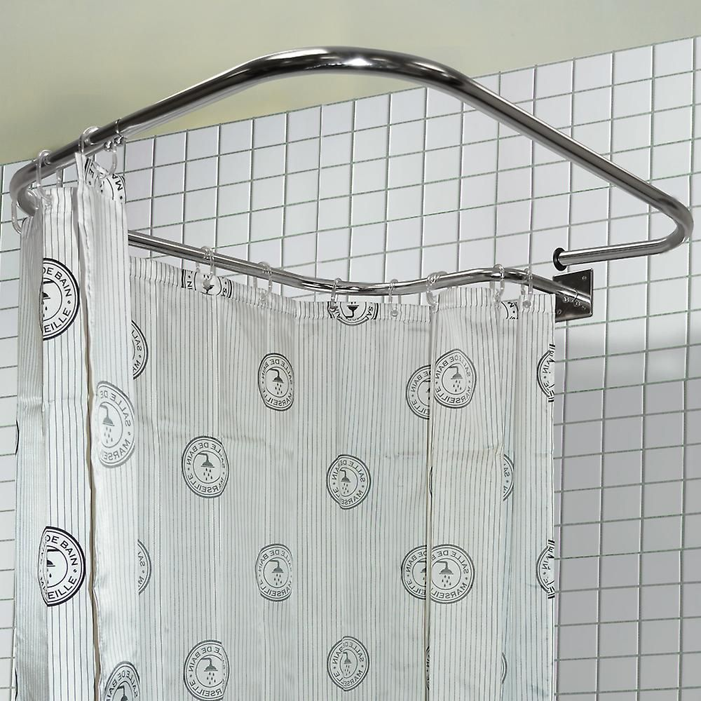 Loop Square Stainless Steel Rectangular Shower Rail And Curtain