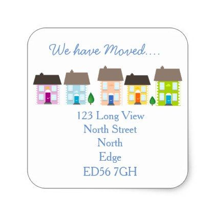 WeVe Moved Change Of Address Label  Return Address Gifts Label
