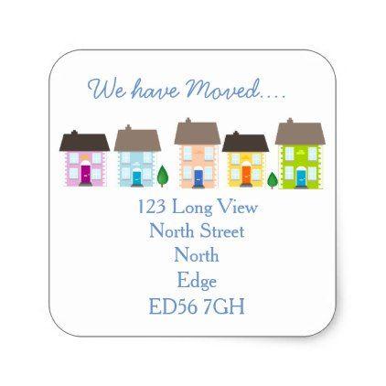 WeVe Moved Change Of Address Label  Return Address Gifts Label