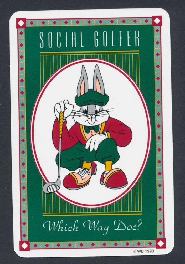 Bugs Bunny Golfer Golf Playing Card Single Swap Ace Of Hearts 1