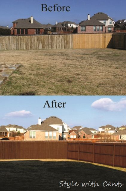 How to stain an old worn out fence for dirt cheap using Fence paint colors ideas
