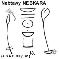 Nebkara graffito at Zawiyet el Aryan