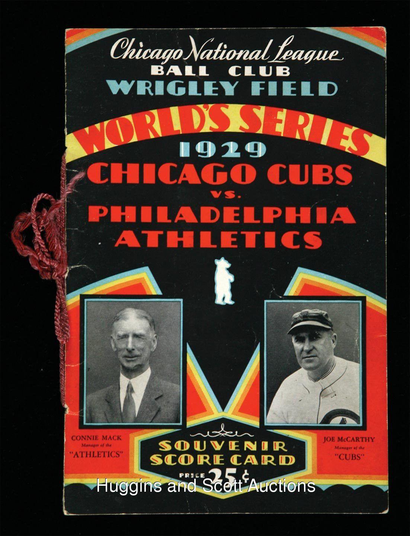 1929 Philadelphia A's 4 / Chicago Cubs 1 Philadelphia