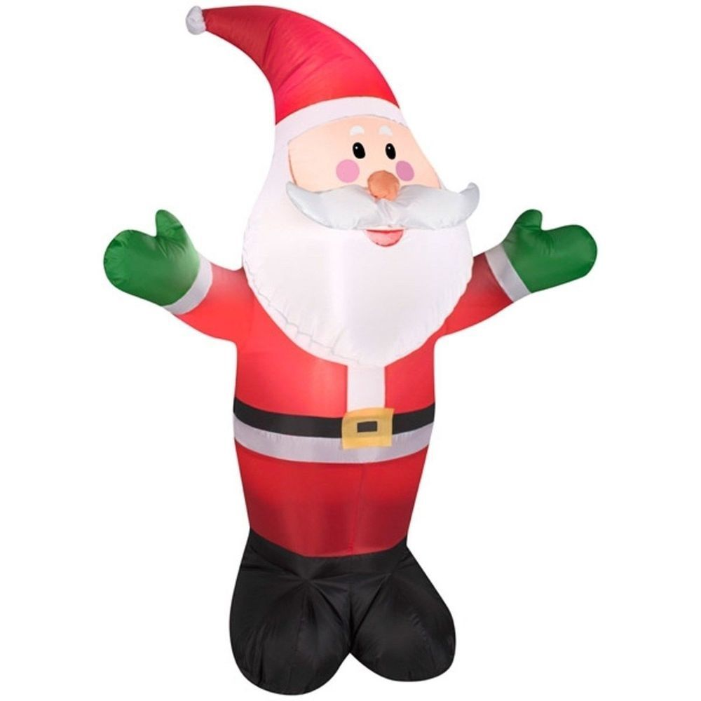 Santa Claus Inflatable Christmas Electric lighted Yard Decor 7 Ft ...