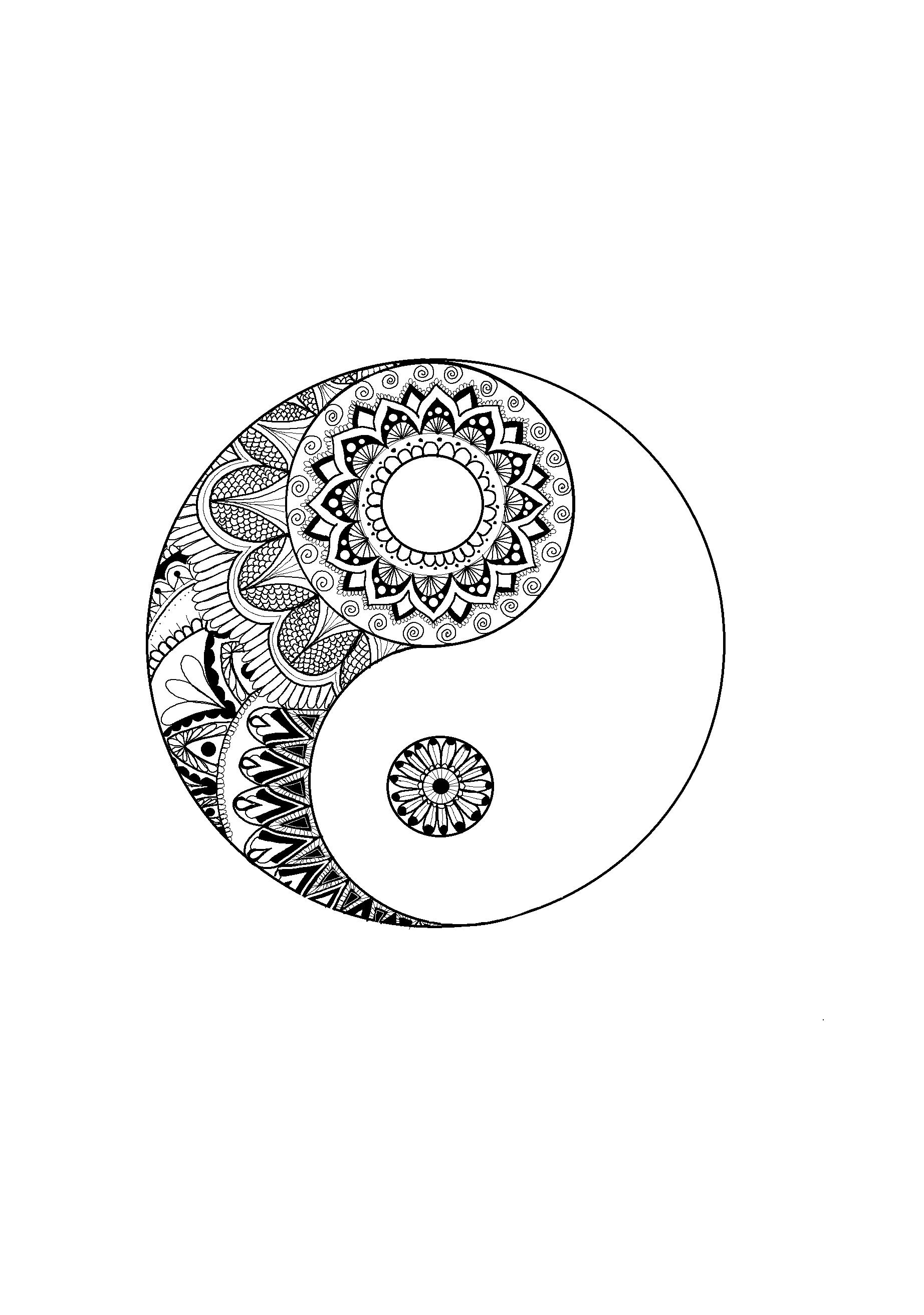Ying Yang Mandalas Fondo De Pantalla Drawings Tatuajes