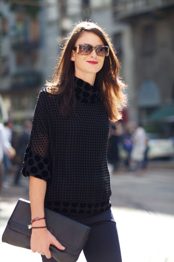 I love clothes that look like you can cuddle with them as they're being worn.  Modern Jackie O.