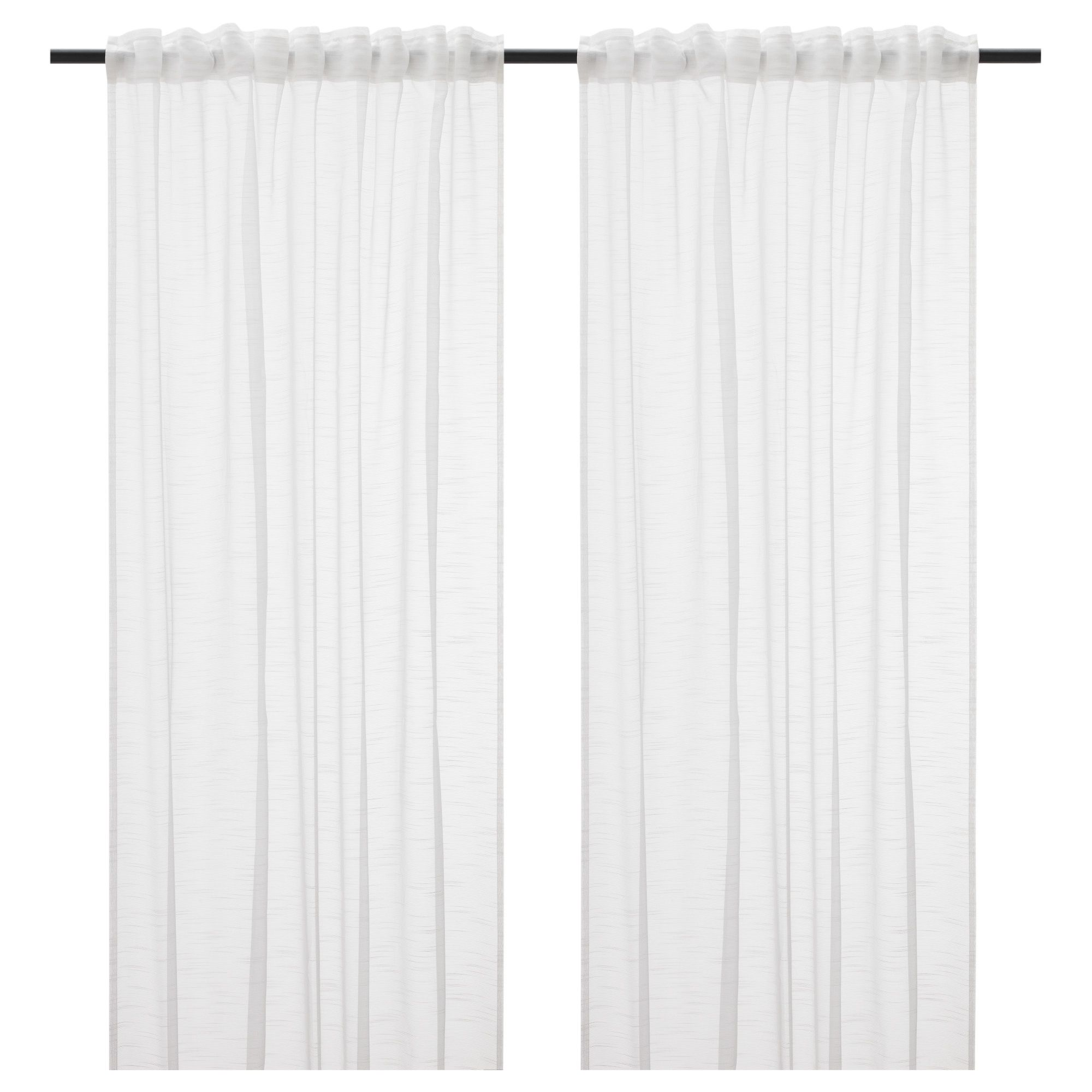 Gjertrud Visillo Par Blanco Sheer Curtains Curtains Ikea - Visillos Ikea