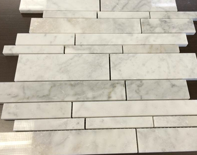 Marble Linear Mosaics - White Carrara (Polished) | Marble tile ...