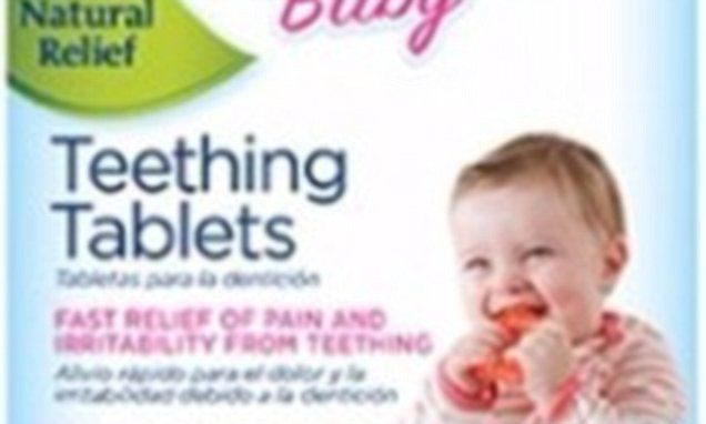 Seizure danger of homeopathic teething tablets, FDA claims