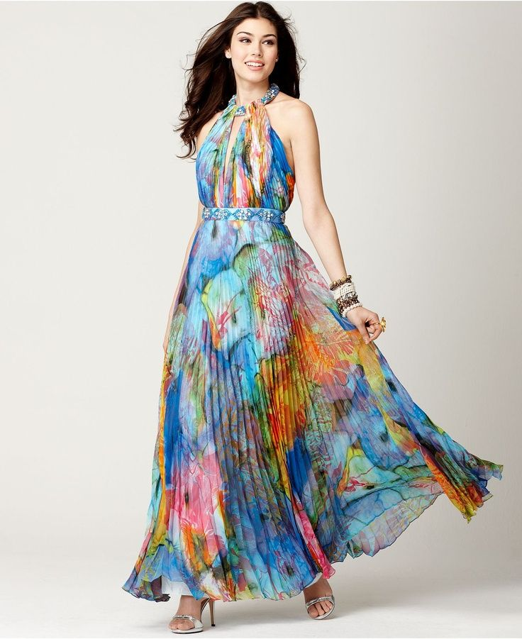 Collection Printed Maxi Dresses Pictures - Reikian