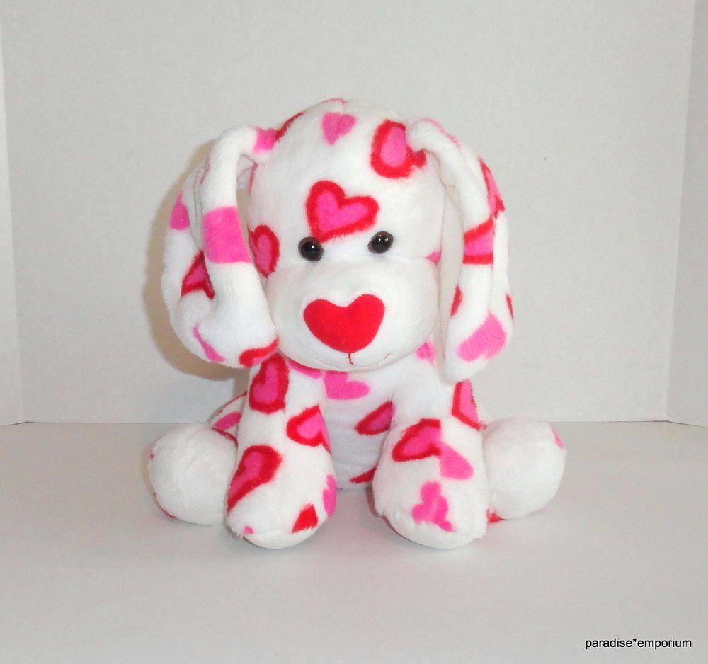 Build A Bear Dog Plush White Red Pink Hearts Fur You Valentines Puppy P11 Build A Bear Dog Teddy Bear Stuffed Animal Plush