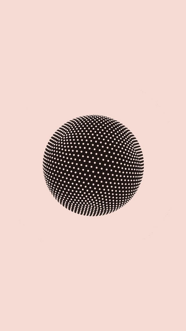 Amazing Illusion Sphere Pink Lovely Minimal Art Iphone