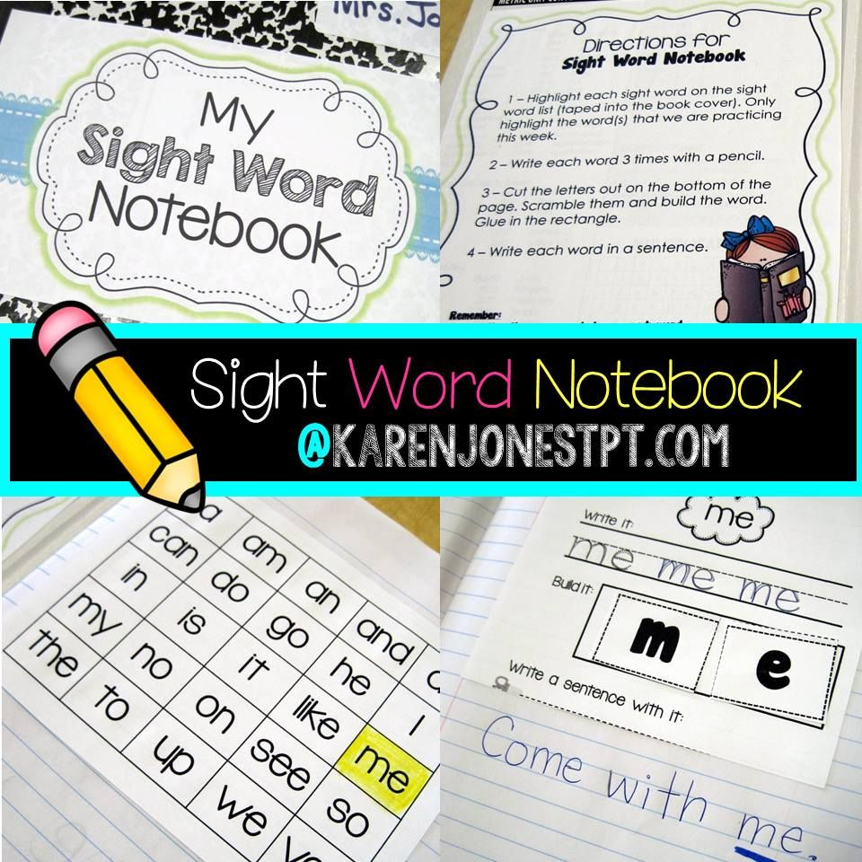 Sight Word Notebook! Perfect Practice At School Or Maybe