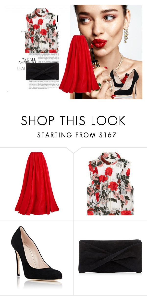"""""""Untitled #58"""" by aammiraa ❤ liked on Polyvore featuring KAROLINA, Reem Acra, Ganni, Barneys New York and Reiss"""