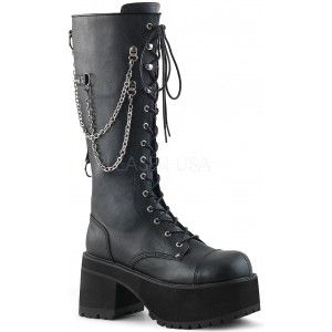dc778b2f665 Ranger Mens Knee High Combat Boot with Chains - New at GothicPlus.com -  your source for gothic clothing jewelry shoes boots and home decor.
