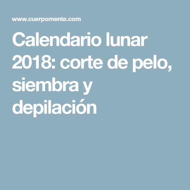 Calendario para corte de cabello 2018