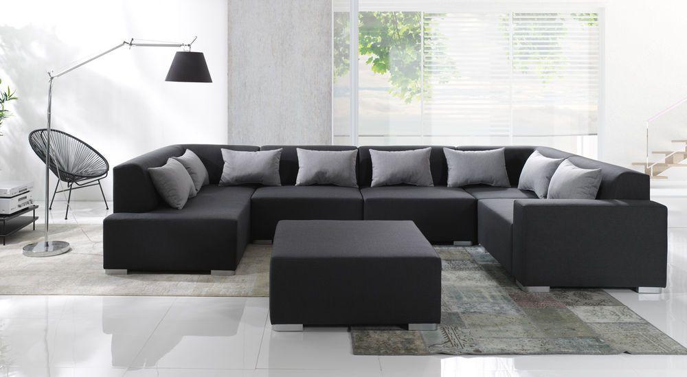 couch garnitur ecksofa sofagarnitur sofa stylo 3 u wohnlandschaft ... - Big Sofa Oder Wohnlandschaft