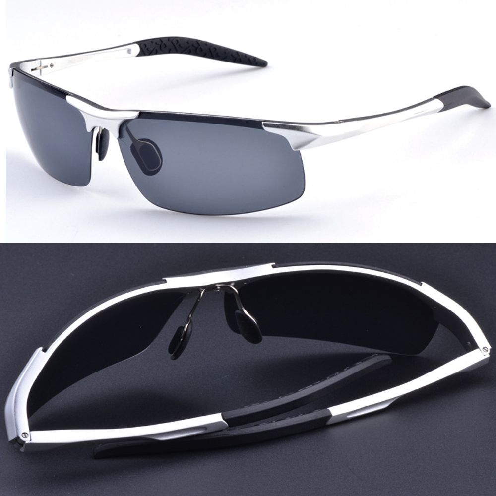 $18.66 (Buy here: http://appdeal.ru/750b ) 2016 Sale Gafas De Sol =silver= Aluminium Titanium Magnesium Battle Field Style Polarized Uv400 Uv100% Mens Sunglasses for just $18.66