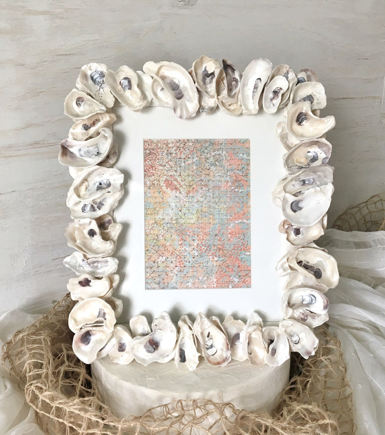 Seashell Picture Frames, Seashell Frame, Beach Frame, Beach Wedding Gifts,