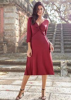 e21f5e0b2262 Úpletové šaty s 3 4 rukávem-BODYFLIRT
