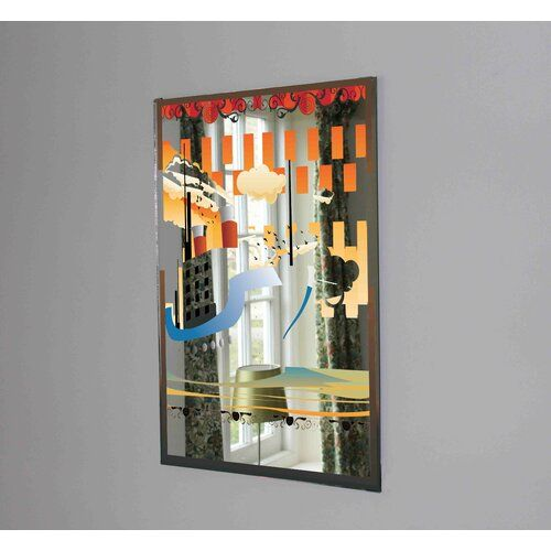 Art Deco Ship Accent Mirror East Urban Home Size 99cm H X 71cm W Over The Door Mirror Round Wall Mirror Mirror Clips