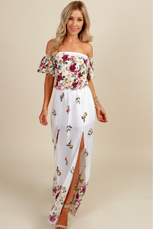 Garden of hope maxi dress ivory sut summer vibes pinterest