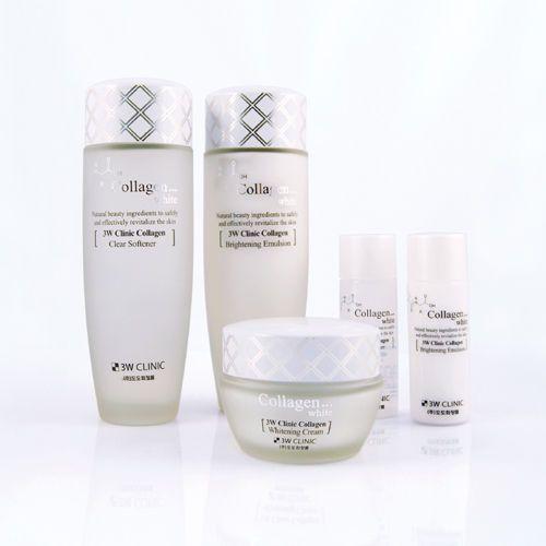 Dodo 3w Clinic Collangen White Skin 3pcs Set Collagen Skin Care Collagen Whiter Skin