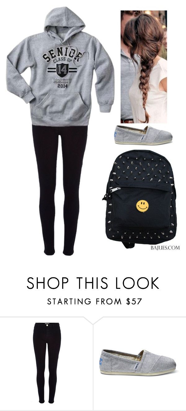 """""""Untitled #1423"""" by queenxpaige ❤ liked on Polyvore featuring River Island and TOMS"""