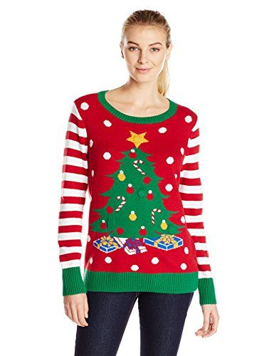 10ea3d0982e New Christmas Ugly Sweater Co Ugly Christmas Sweater Women s LIGHT-UP Christmas  Tree Sweater Women s Fashion Clothing online.   30.99 - 34.00  from top ...