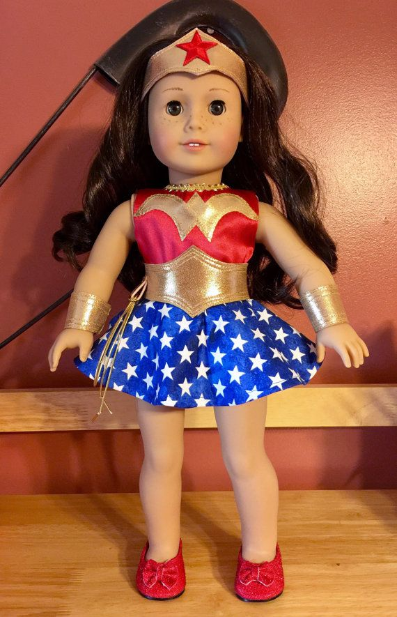 Wonder Woman costume for American girl or 18 doll by PerfectlyPams ...