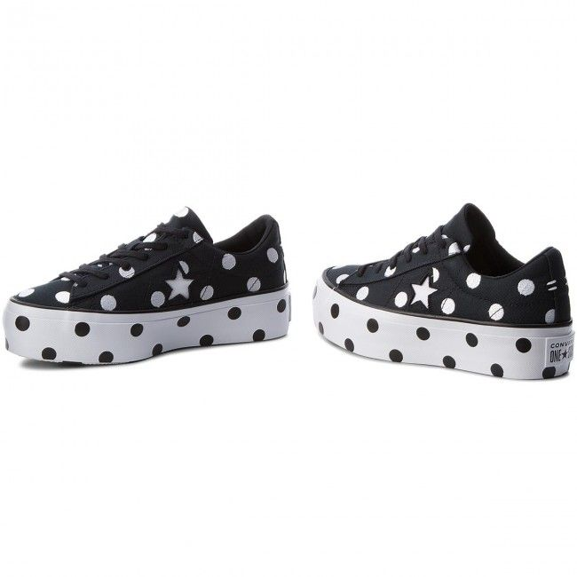 671eea4a9f4be4 Tenisówki CONVERSE One Star Platform Ox 560695C Black White White ...