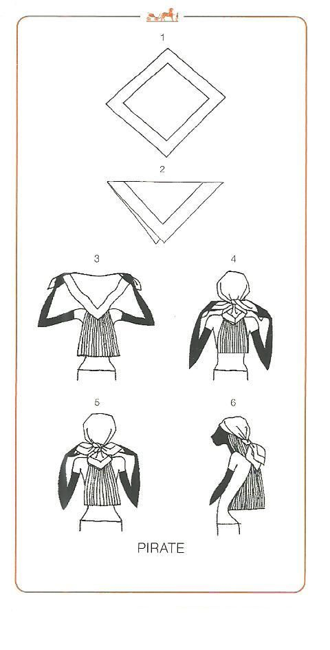 How to tie a scarf - Hermes knotting cards - PIRATE