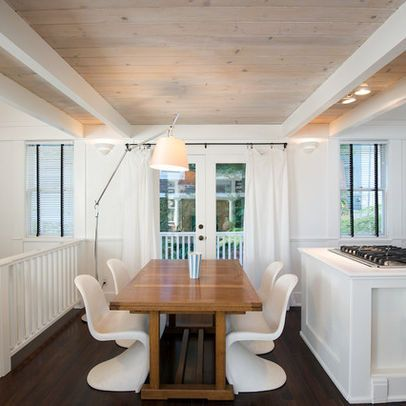 Tongue And Groove Whitewash Ceiling White Beams White
