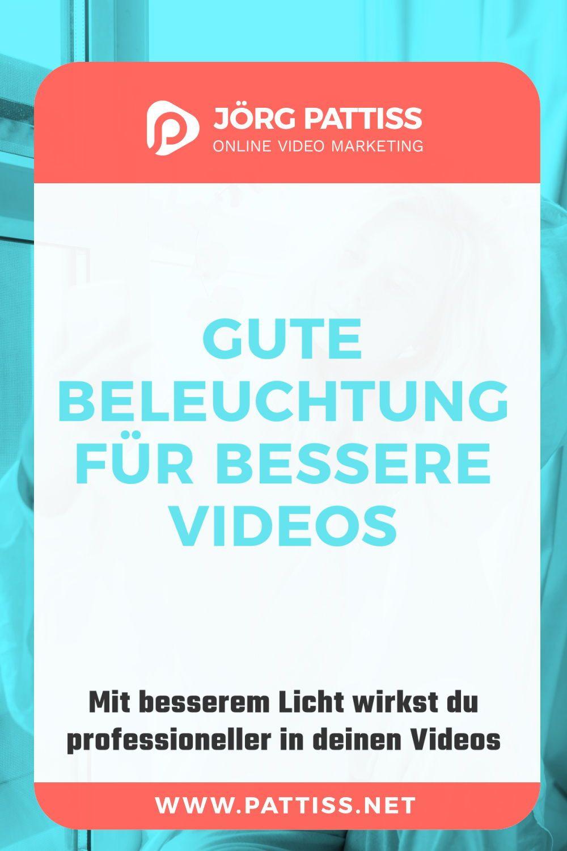 Beleuchtungstipps Jorg Pattiss In 2020 Videos Youtube Videos Marketing