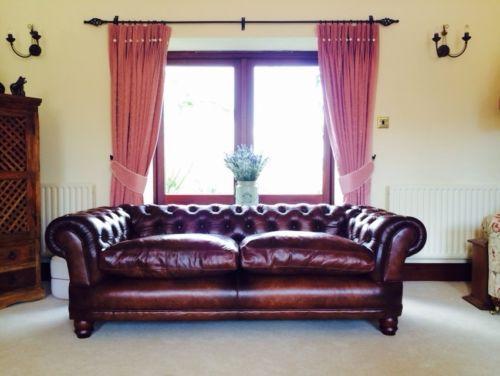 Brand New John Lewis Tetrad Chatsworth Grand Chesterfield Sofa Antique Leather Ebay Chesterfield Sofa Antique Sofa Sofa