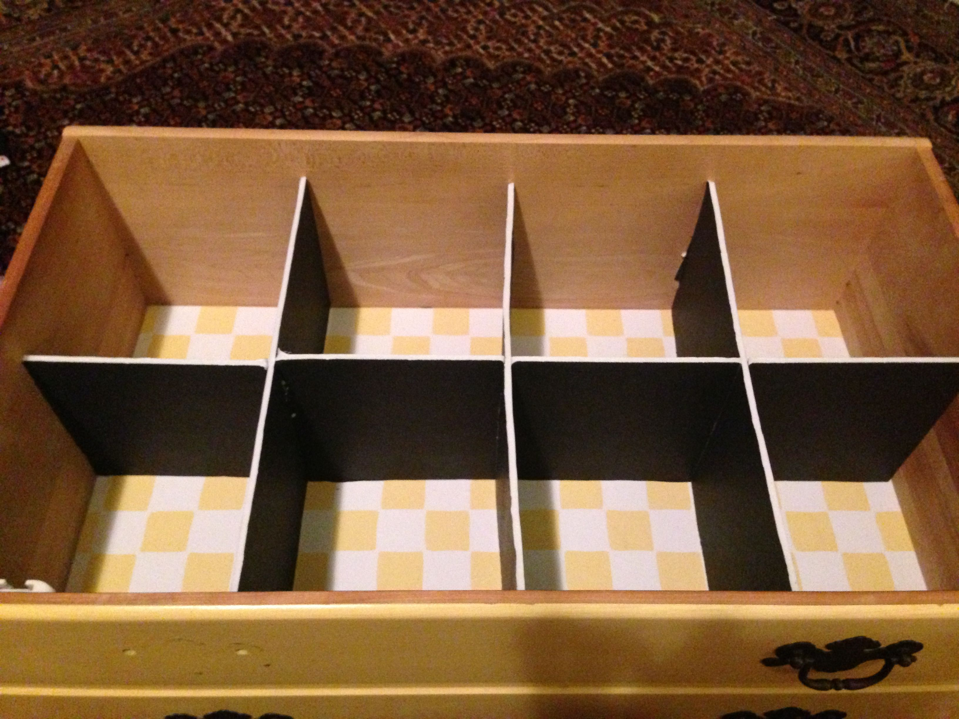 DIY Drawer Dividers - foam board $1 each at dollar store ...