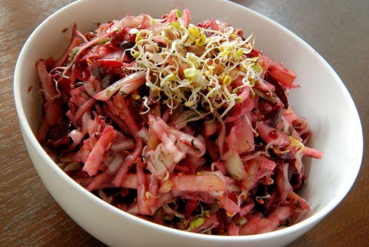 Cabbage and kohlrabi salad