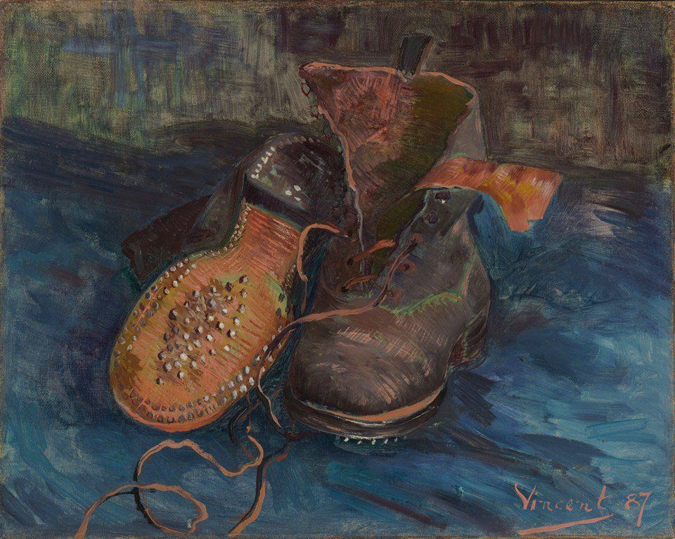 Pair Vincent A Gogh Of Boots 1887 Van 7qzvqwrt