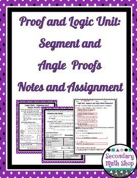 Proof Logic Unit 2 Proof Logic 5 Segment And Angle Proofs Note