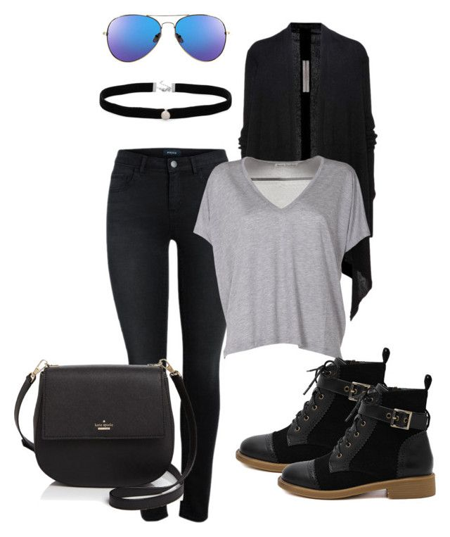"""""""Saturday"""" by lexxoxoxo on Polyvore featuring Rick Owens, Acne Studios, WithChic, Kate Spade and Amanda Rose Collection"""