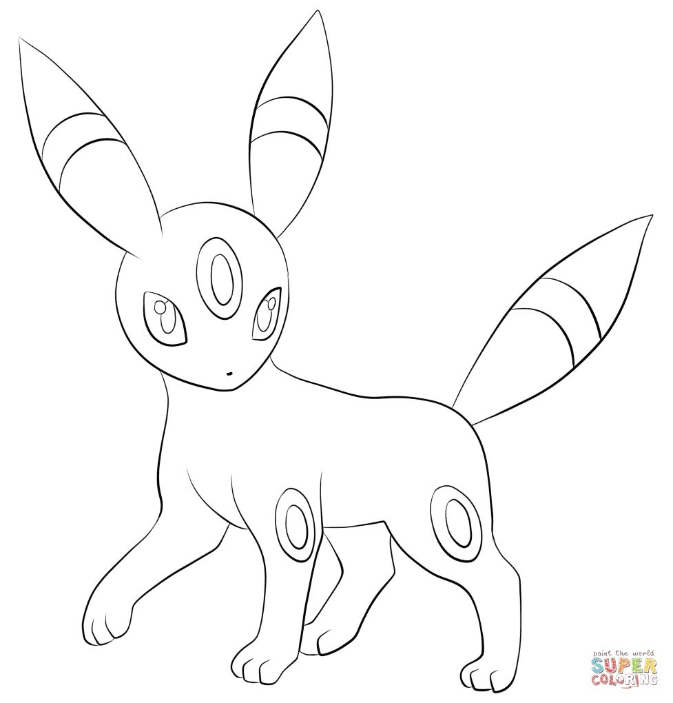 Pokemon Coloring Pages Umbreon Coloring Pages Allow Kids To