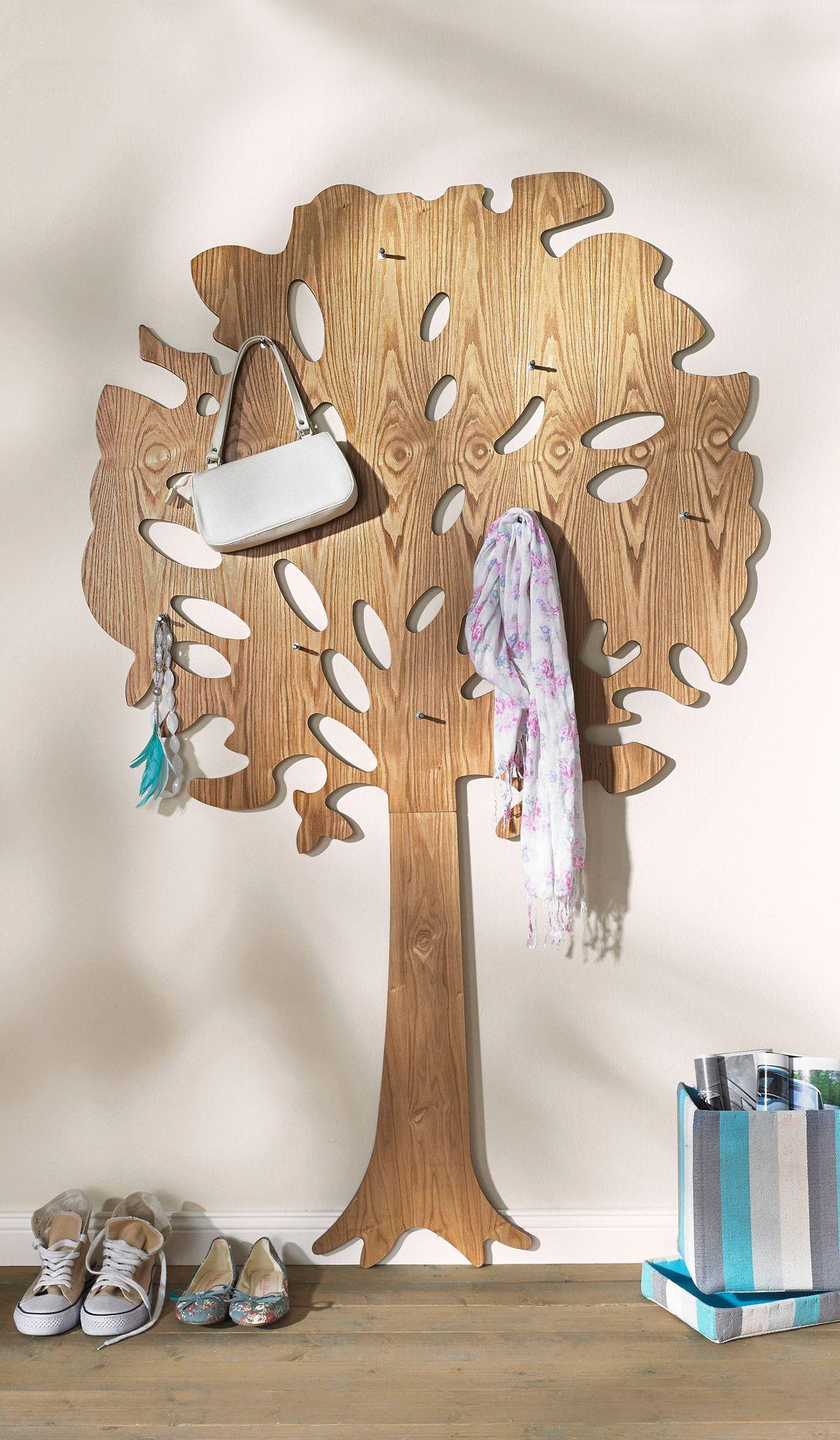 Garderobe Im Baum Design In 2020 Garderobe Baum Garderobenbaum
