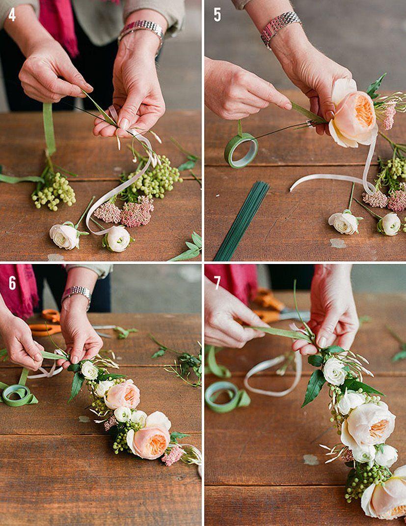 Как сделать венки на голову своими руками фото 939