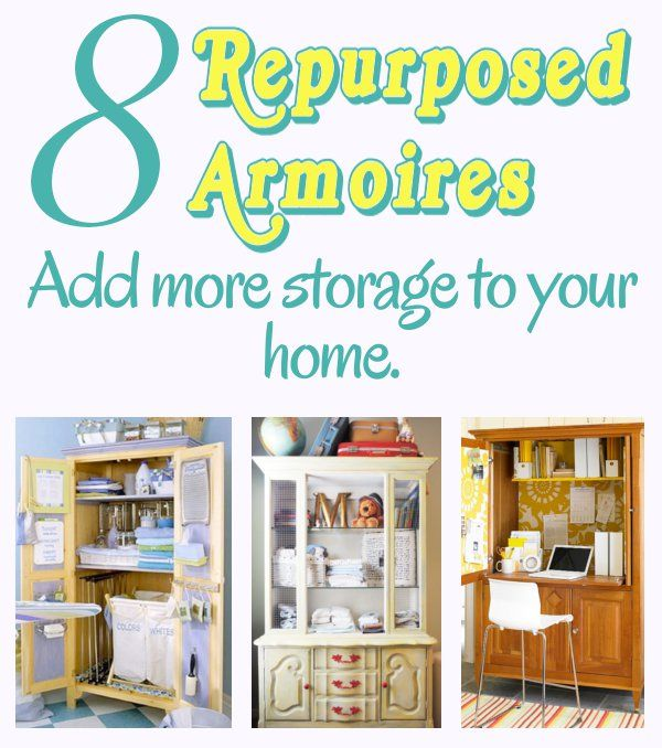 DIY Home Sweet Home | Best Repurpose, Armoires and Laundry ideas
