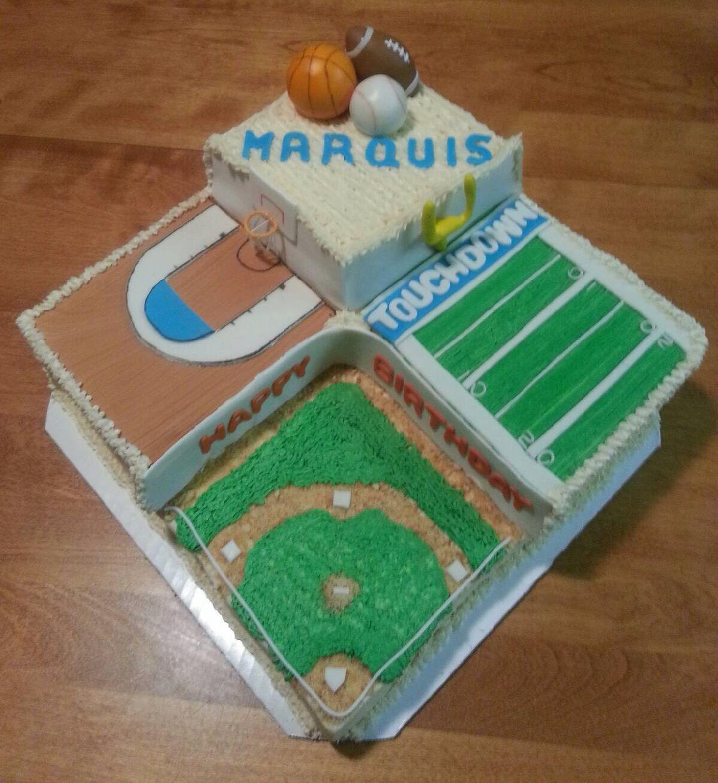 Multi Level Sports Cake